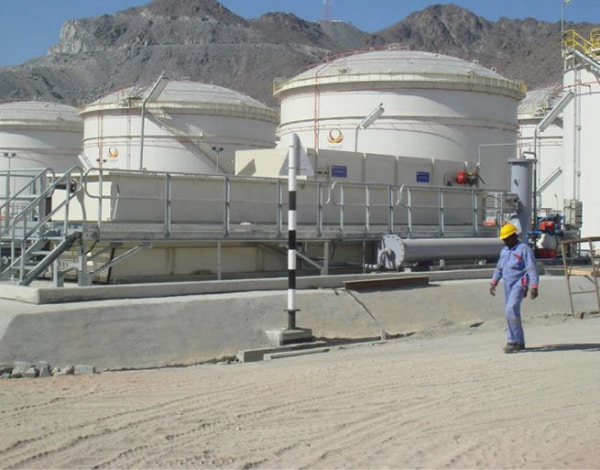 Man walking at the Wastewater treatment Plant